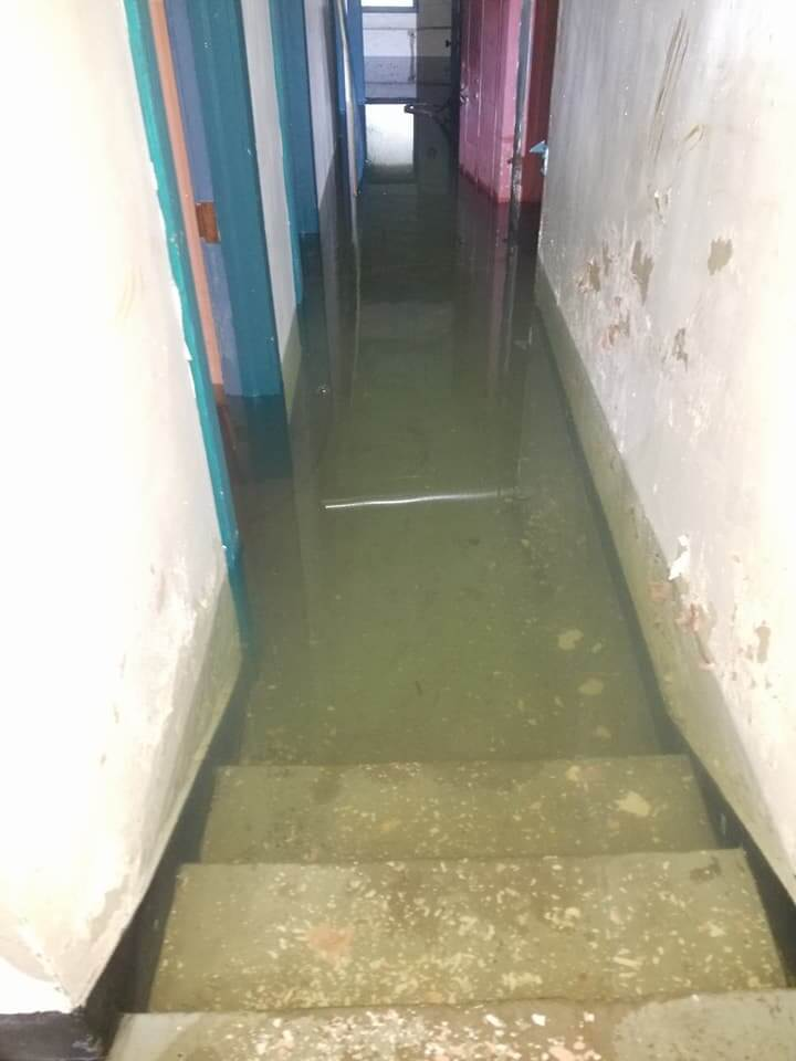 Historic West Bend Theatre Stairwell Flood Magic Touch